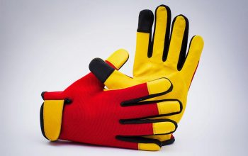 leather gloves Product photography